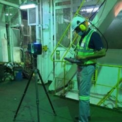 3D Scan Technician (Palvin Govender) setting up the Scanner